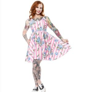 NWT Sourpuss Sweets Carousel Pink Striped Dress